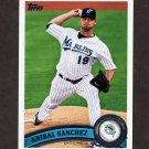 2011 Topps Baseball #596 Anibal Sanchez - Florida Marlins