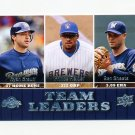 2009 Upper Deck Baseball #439 Ryan Braun/Prince Fielder/Ben Sheets - Milwaukee Brewers