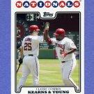 2008 Topps Baseball #257 Austin Kearns / Dmitri Young - Washington Nationals