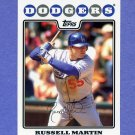 2008 Topps Baseball #190 Russell Martin - Los Angeles Dodgers