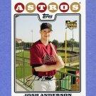 2008 Topps Baseball #177 Josh Anderson RC - Houston Astros