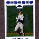 2008 Topps Chrome Baseball #121 Derek Jeter - New York Yankees