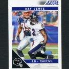 2011 Score Football #026 Ray Lewis - Baltimore Ravens