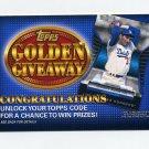 2012 Topps Golden Giveaway Code Cards #GGC10 Sandy Koufax - Los Angeles Dodgers