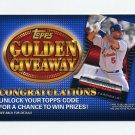 2012 Topps Golden Giveaway Code Cards #GGC06 Albert Pujols - St. Louis Cardinals