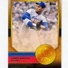 2012 Topps Golden Greats Baseball #GG50 Sandy Koufax - Los Angeles Dodgers