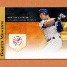 2012 Topps Golden Moments Baseball #GM03 Derek Jeter - New York Yankees