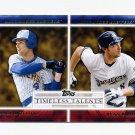 2012 Topps Timeless Talents Baseball #TT01 Paul Molitor / Ryan Braun - Milwaukee Brewers