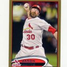 2012 Topps Gold Baseball #434 Jason Motte - St. Louis Cardinals Serial Numbered 1697/2012