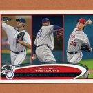 2012 Topps Baseball #319 Justin Verlander / C.C. Sabathia / Jered Weaver