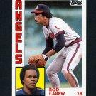 1984 Topps Baseball #600 Rod Carew - California Angels
