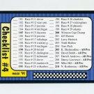 1991 Maxx Racing #240 Checklist 181-240