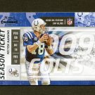 2009 Playoff Contenders Football #044 Peyton Manning - Indianapolis Colts