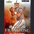 2008 Score Franchise Scorecard Football #25 Peyton Manning - Indianapolis Colts 516/999