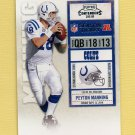 2010 Playoff Contenders Football #041 Peyton Manning - Indianapolis Colts