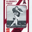 1989 Alabama Coke 580 Football #565 David Sadler - Alabama Crimson Tide