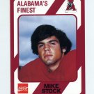 1989 Alabama Coke 580 Football #545 Mike Stock - Alabama Crimson Tide
