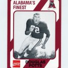 1989 Alabama Coke 580 Football #544 Douglas Potts - Alabama Crimson Tide