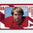 1989 Alabama Coke 580 Football #536 Gary Otten - Alabama Crimson Tide