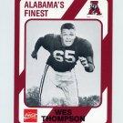 1989 Alabama Coke 580 Football #517 Wes Thompson - Alabama Crimson Tide