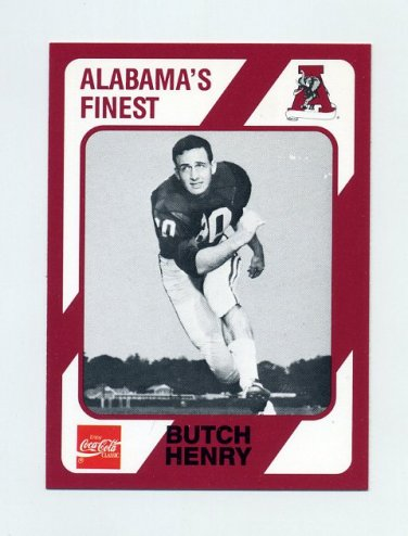 1989 Alabama Coke 580 Football #480 Butch Henry - Alabama Crimson Tide