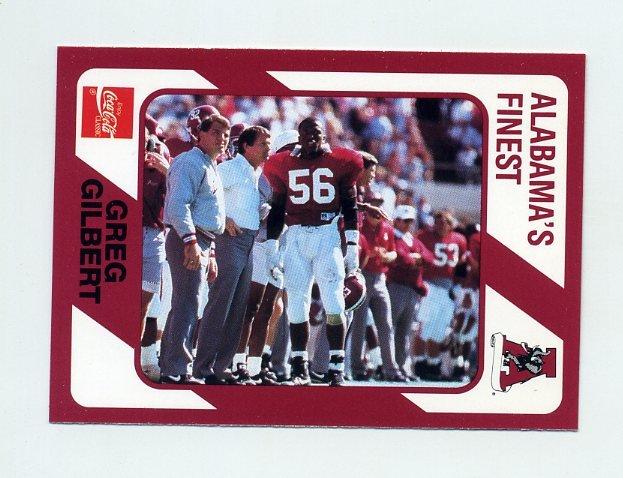 1989 Alabama Coke 580 Football #472 Greg Gilbert - Alabama Crimson Tide