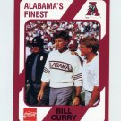 1989 Alabama Coke 580 Football #446 Bill Curry CO - Alabama Crimson Tide