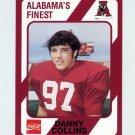 1989 Alabama Coke 580 Football #438 Danny Collins - Alabama Crimson Tide
