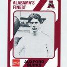 1989 Alabama Coke 580 Football #424 Auxford Burks - Alabama Crimson Tide