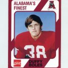 1989 Alabama Coke 580 Football #412 Duffy Boles - Alabama Crimson Tide