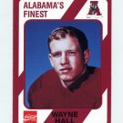 1989 Alabama Coke 580 Football #382 Wayne Hall - Alabama Crimson Tide