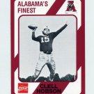 1989 Alabama Coke 580 Football #347 Butch Hobson - Alabama Crimson Tide