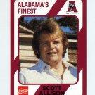 1989 Alabama Coke 580 Football #335 Scott Allison - Alabama Crimson Tide