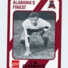 1989 Alabama Coke 580 Football #316 C.B. Clements - Alabama Crimson Tide