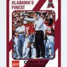 1989 Alabama Coke 580 Football #303 Ray Perkins CO - Alabama Crimson Tide