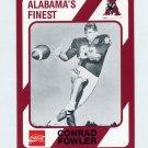 1989 Alabama Coke 580 Football #289 Conrad Fowler - Alabama Crimson Tide