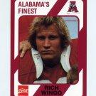 1989 Alabama Coke 580 Football #287 Rich Wingo - Alabama Crimson Tide