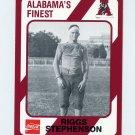 1989 Alabama Coke 580 Football #216 Riggs Stephenson - Alabama Crimson Tide