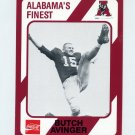 1989 Alabama Coke 580 Football #210 Butch Avinger - Alabama Crimson Tide