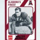 1989 Alabama Coke 580 Football #203 Walter Merrill - Alabama Crimson Tide