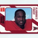 1989 Alabama Coke 580 Football #197 Wayne Davis - Alabama Crimson Tide