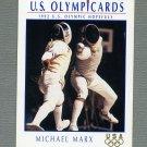 1992 Impel U.S. Olympic Hopefuls #043 Michael Marx / Fencing