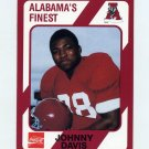 1989 Alabama Coke 580 Football #185 Johnny Davis - Alabama Crimson Tide