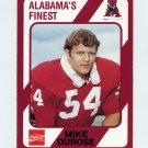1989 Alabama Coke 580 Football #184 Mike DuBose - Alabama Crimson Tide