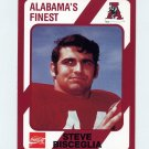 1989 Alabama Coke 580 Football #182 Steve Bisceglia - Alabama Crimson Tide