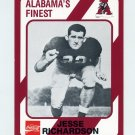 1989 Alabama Coke 580 Football #163 Jesse Richardson - Alabama Crimson Tide