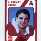 1989 Alabama Coke 580 Football #148 Bill Condon - Alabama Crimson Tide