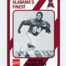 1989 Alabama Coke 580 Football #137 Wayne Hamilton - Alabama Crimson Tide