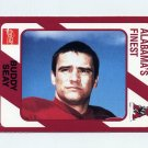 1989 Alabama Coke 580 Football #129 Buddy Seay - Alabama Crimson Tide