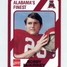 1989 Alabama Coke 580 Football #118 Bobby McKinney - Alabama Crimson Tide